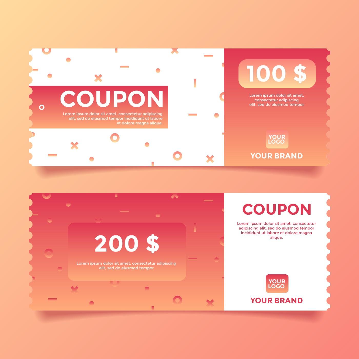 coupon template vector